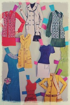 Paper doll cut out clothes