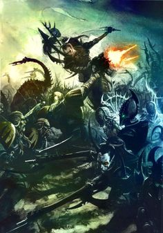 Dark Eldar vs. Space Wolves warhammer 40k