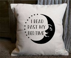 I read past my bedtime throw pillow.