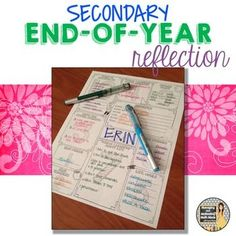 Middle School or High School End-of-the-Year Reflection Activity   In the secondary classroom, we don't often get the opportunity to create the fun memory books or make big end of the year projects. But, reflecting and synthesizing are important parts of the learning process.