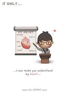 HJ-Story :: If Only. Hj Story, Cute Couple Cartoon, Cute Cartoon, Cute Love Stories, Love Story, Love Is, True Love, Distance Love, Cute Love Cartoons