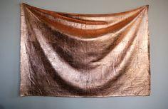 Edith Dekyndt. - Untitled (grey blanket with copper), 2014. Ph: Pierre Henri Leman.