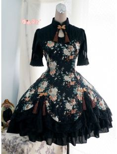 One piece lolita dresses are refered as OP for lolita lovers, and they refer to dresses with short or long sleeves. There are sweet lolita one piece dress, and other styles. Kawaii Fashion, Lolita Fashion, Emo Fashion, Fashion Shirts, Gothic Fashion, Fashion Trends, One Piece Dress, The Dress, Dress Lace