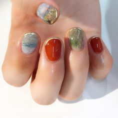Different colors, nails - ChicLadies. Love Nails, How To Do Nails, Fun Nails, Pretty Nails, Beautiful Nail Designs, Cute Nail Designs, Nail Manicure, Nail Polish, Different Color Nails