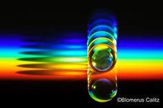 Acrylic spheres in refracted sunlight.  - Blomerus Calitz