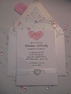 Rose Quartz Sparkle Bridal Shower Invitation created by Above & Beyond - Custom Events & Stationery