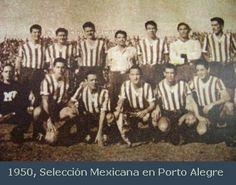 """UNA JOYA DE FOTOGRAFIA, LA SELECCION MEXICANA CON EL UNIFORME DEL """"GREMIO DE PORTO ALEGRE"""" 1950."""