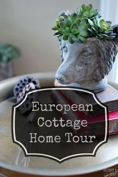 European cottage home tour: A cozy cottage full of treasures from travels abroad. Layers of personal details and simplicity add to the charm of this cozy abode. www.huntandhost.com