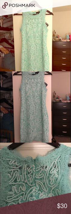 Mint lace dress! Brand new! Beautiful mint lace dress! Brand new never worn Dresses Mini