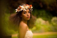 Silk flower headdress - Image by Neil Redfern Photography