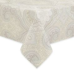 Echo Design Juneau Tablecloth in Gray - BedBathandBeyond.com