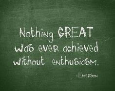 Quotes  Hard Work & Success : nothing great was ever achieved without enthusiasm