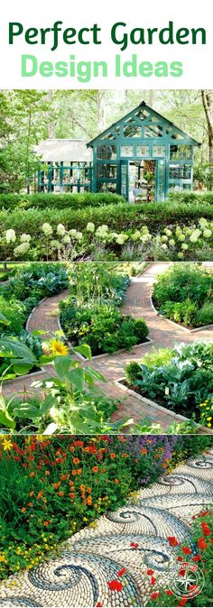 Garden Design Ideas: Plan your Perfect Garden - This is a great article for inspiration on what is possible in your garden. There are artsy, visually driven gardens and there are purpose built gardens. I think there is room for a little whimsy in your garden. Why not? Spend your time enjoying the food and the experience of a garden. #gardendesigns #garden