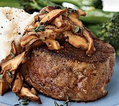 Beef Tenderloin Steaks Stuffed with Morels Recipe, Beef Tenderloin Steak Recipes, How To Cook The Perfect Steak, Beef Recipes Portobello, Steak Recipes, Cooking Recipes, Cooking Tips, Chicken Recipes, Filet Mignon Steak, Filet Steak, Cooking The Perfect Steak, Tenderloin Steak