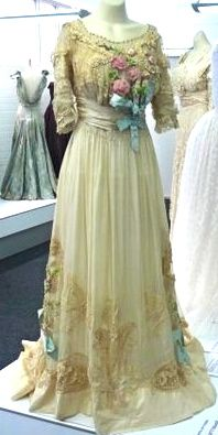 ~A Lucile wedding dress from 1911. Gossamer silk, taffeta, sequins, beads, lace - this dress is so elaborate and fragile~