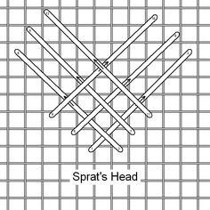Sprats Head Stitch is a very easy but effective stitch and can be worked as a block stitch as well as a border.