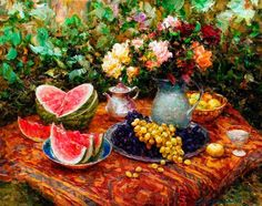 Alexei Khlebnikov / Алексей Хлебников ~ Still Life of Flowers painter | Tutt'Art@ | Pittura • Scultura • Poesia • Musica