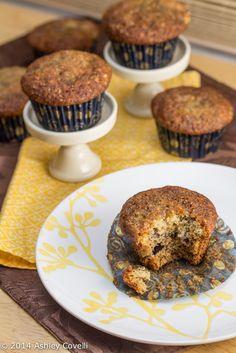 Honey Banana Poppy Seed Muffins