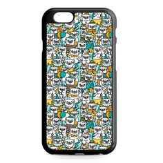 Pug Pattern iPhone 4/4S/5/5S/5C/6/6S/6+/6S+ Heavy Duty Case
