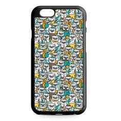Pug Pattern iPhone 4/4S/5/5S/5C/6/6S/6+/6S+ Heavy Duty Case