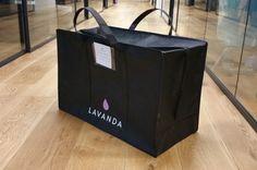 Uber of Laundry - Lavanda Laundry Service, Uber, Paper Shopping Bag, Lavender, Laundry