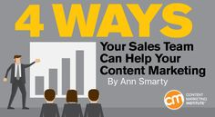 4 Ways Your Sales Team Can Help Your Content Marketing http://contentmarketinginstitute.com/2016/09/sales-help-content-marketing?utm_source=rss&utm_medium=Sendible&utm_campaign=RSS