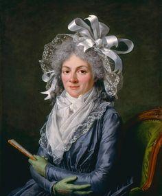 1780 Portrait of Madame de Genlis by Adelaide Labille-Guiard