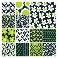 Arrière-plans abstraits colorés : 16 Des fleurs Stock Vecteur Libres de Droits…