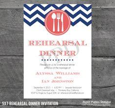 Stylish Nautical Rehearsal Dinner Invitation Nautical rehearsal
