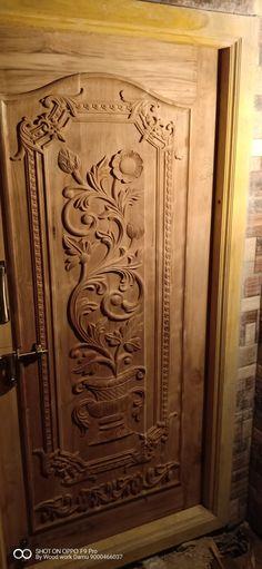 Woodworking Used Machinery Code: 1267267990 Pooja Room Door Design, Bedroom Door Design, Door Design Interior, Wall Decor Design, Exterior Design, Single Door Design, Wooden Front Door Design, Wooden Front Doors, Modern Front Door