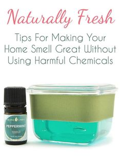 Tips for making your home smell great without the use of harsh chemicals — Plus a DIY recipe for a Homemade Gel Air Freshener!