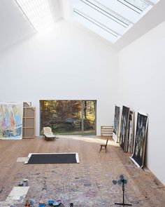 Georg Baselitz studio at the Ammersee. #georgbaselitz. Photo by Dominik Gigler