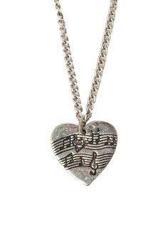 LOVEsick Sheet Music Heart Necklace | Hot Topic