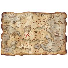 Pirate Treasure Map Cool Idea to develop a Pirate Treasure Map personalized for the birthday boy/girl.