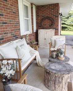 Woodland inspired farmhouse porch