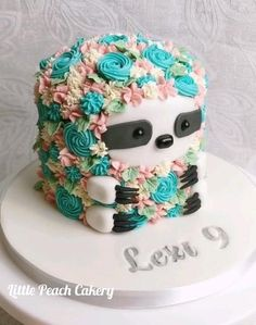 Cake Decorating Designs, Cake Decorating Videos, Cake Decorating Techniques, Cool Cake Designs, 8th Birthday Cake, Animal Birthday Cakes, Birthday Cakes For Girls, Cupcakes Cool, Cute Cakes