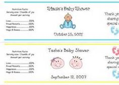 water bottle baby shower labels - Bing Images