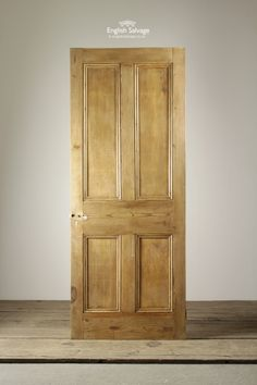 Stripped Pine Four Panel Reclaimed Door