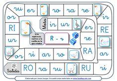 Juegos de la oca para leer sílabas y palabras compuestas por las letras D, J, Y, LL, B, V, Z, C, R ideales para reforzar el aprendizaje de la lectura