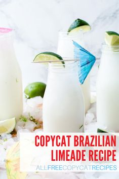 If you've ever had a Brazilian Limeade, you know what the fuss is about. This deliciously refreshing beverage is perfect for all your summer cravings. Brazilian Limeade Recipe, Fruit Recipes, Summer Recipes, Love Ice Cream, Refreshing Drinks, Ice Cream Recipes, Copycat Recipes, Glass Of Milk, Cravings