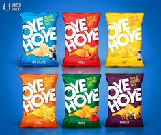 Hoye Chips comes up as a new addition to the Food products in the market. With its deli.Oye Hoye Chips comes up as a new addition to the Food products in the market. With its deli. Chip Packaging, Packaging Snack, Kids Packaging, Food Packaging Design, Packaging Design Inspiration, Brand Packaging, Design Ideas, Snack Brands, Chocolate Packaging