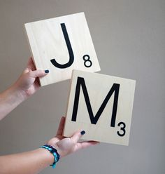 Turn pieces of wood into huge scrabble-like letters!