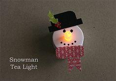 Snowman Tea Light-possible parent craft??? Easy!
