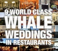 Whale Weddings: 9 World Class Restaurants For Your Big, Expensive Day