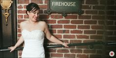 Love the bride in front of the brick exterior of the Firehouse in Old Sacramento.   Photo Credit: LINDSAY + KEVIN THE FIREHOUSE OLD TOWN SACRAMENTO CALIFORNIA WEDDING - Stephen Anthony Photography : Wedding and Fashion Photographer, Southern & Northern California