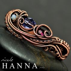 Wire wrapped TWO finger ring. www.nicolehannajewelry.com