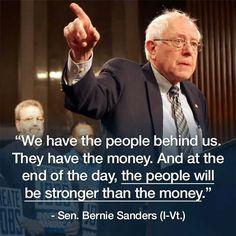 The people (Senator Bernie Sanders, he's m' man <3)