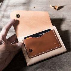 Handmade leather vintage women short wallet clutch coin purse wallet | Evergiftz