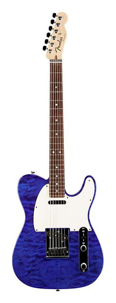 FENDER Custom Shop Custom Deluxe Telecaster Electric Guitar with Rosewood Fingerboard Cobalt Blue Transparent Rosewood   Guitar Center