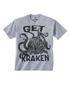 Love this Skip N' Whistle Heather Gray 'Get Kraken' Tee - Toddler & Kids by Skip N' Whistle on #zulily! #zulilyfinds
